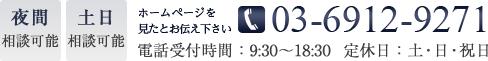 電話番号03-6912-9271